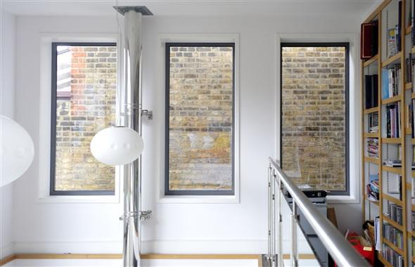 uPVC slimline windows in Grey